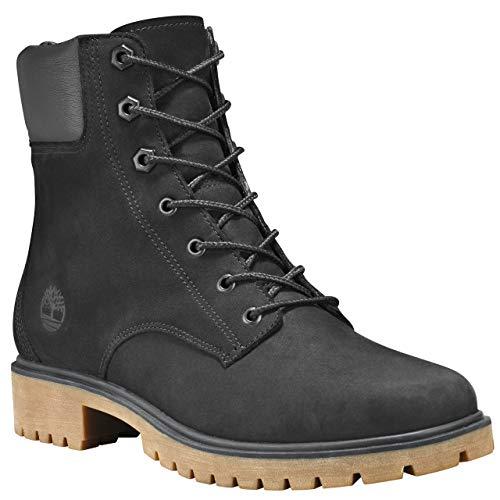 Nubuck Womens Boots - Timberland Womens Jayne 6-Inch Waterproof Black Nubuck Boot - 6