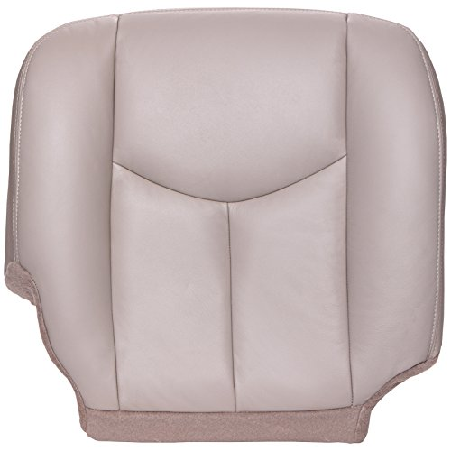The Seat Shop Passenger Bottom Replacement Seat Cover - Shale (Tan) Leather (Compatible with 2003-2006 Chevrolet Tahoe, Suburban, and GMC Yukon, Yukon XL) (Chevy Tahoe Driver Seat Cover)