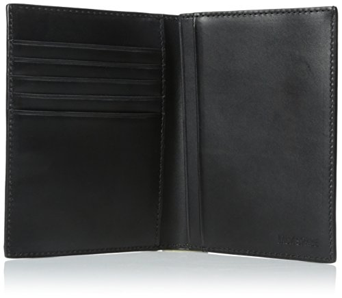 Black Leather Passport Wallet Jack Jack Men's Spade Spade 610 wxX861q4v