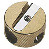 Mobius & Ruppert Brass Round Double Hole Sharpener