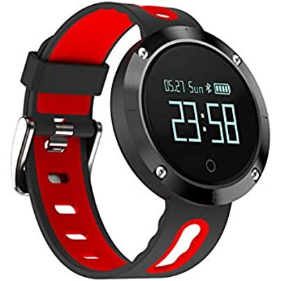ZCPWJS smart wristband DM58 Smart Bracelet Heart Rate BloodPressure Sleep Monitor Call Social App Remind MSN Push Sport Wristband Smart band BlackRed Estimated Price £82.64 -