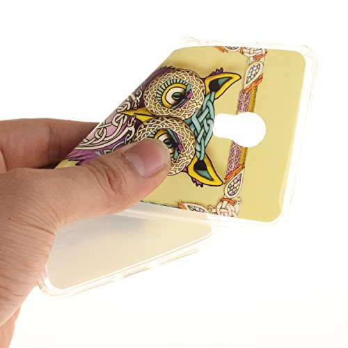 Qiaogle Teléfono Caso - Funda de TPU silicona Carcasa Case Cover para Huawei GR3 / P8 Lite Smart (5.0 Pulgadas) - TX32 / Rojo love heart raindrops TX12 / Colorful Suerte búhos
