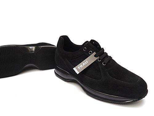 FRAU - Zapatos de cordones de ante para hombre negro negro 41