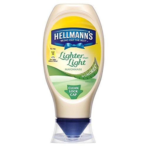 (Hellmanns Lighter than Light Squeezy Mayonnaise - 430ml - Pack of 2 (430ml x 2))