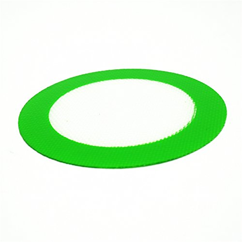 YHSWE 50PCS Food Grade Silicone Non-Stick Oil and Concentrate Mat Pad Round 5'' Green by YHSWE