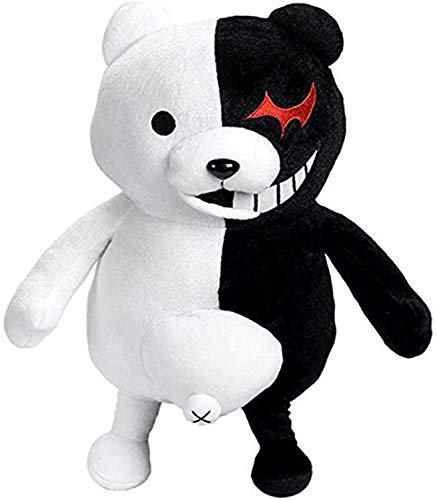 14 Inch Monokuma Plush Toy Monomi Doll Anime Cosplay Black and White Bear Stuffed Plush
