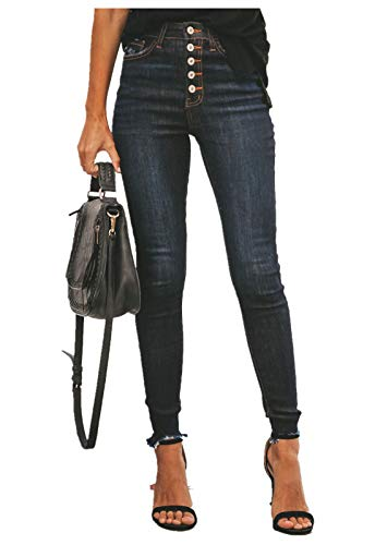 GALMINT Women's Juniors High Waisted Butt-Lifting Slim Stretch Jegging Denim Skinny Jeans Black