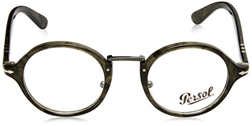 Persol Montures de lunettes 3128 Striped Grey, 44mm 1020: Striped Grey
