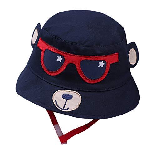 (❤Ywoow❤❤ , Toddler Kids Baby Boy Girl Cartoon Print Soft Visor Bucket Eaves Cap Pots Hat)