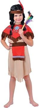 Native - Disfraz de india para niña, talla M (EG-3539. M): Amazon.es ...