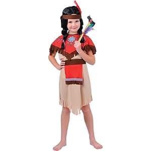 Native - Disfraz de india para niña, talla M (EG-3539. M)