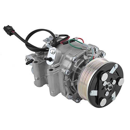 CATUO AC Compressor & A/C Clutch Replacement for 2006 2007 2008 2009 2010 2011 Honda Civic 1.8L Sedan 4-Door, Coupe 2-Door | 4918 4901 98555 4918U1 2004918R | 1 Year - Replacement Clutch Ac