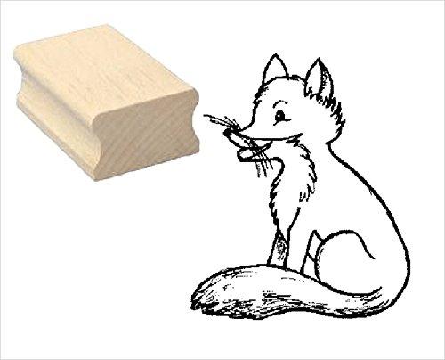Stempel Holzstempel Motivstempel « niedlicher FUCHS » Scrapbooking - Embossing Kinderstempel Tierstempel Förster Jäger Wald jagen