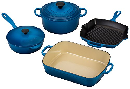 Le Creuset Signature 6-Piece Cast Iron Cookware Set, Marseille
