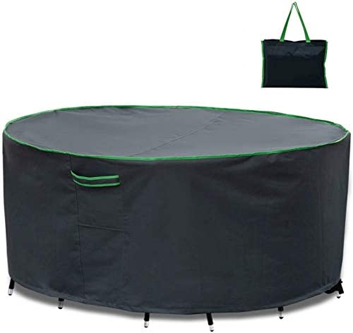 家具カバー ファニチャー テーブル・椅子カバーテーブル椅子カバーラウンドテーブルと椅子カバーガーデン家具は屋外のテーブルと椅子cover600Dオックスフォード布を設定しました ガーデン 庭用保護カバー シャンボ14011 (Size : 244*70cm)