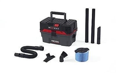 Ridgid 50318 4500RV ProPack Wet/Dry Vacuum, 4.5 gal, Red