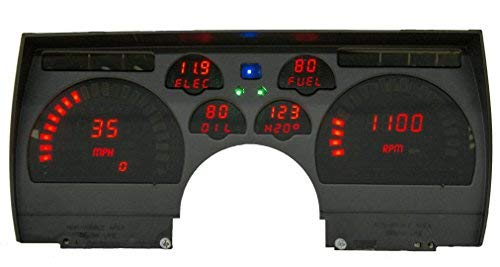 1991-1992 Camaro Red LEDs Digital Replacement Gauge Panel Direct Replacement Gauge Cluster