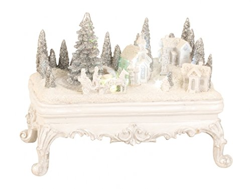 BRUBAKER Snowy Village with LED Lights and Animated Figures - 9 Inches Wide - Christmas Decoration - Winter Scene (Christmas Scene Animated)