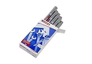 Edding 750-054 - Marcador de tinta opaca, 10 unidades, color plateado