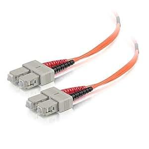 C2G / Cables To Go 33003 SC-SC 50/125 OM2 Duplex Multimode PVC Fiber Optic Cable (3 Meter, Orange)