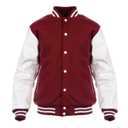 Angel Cola Burgundy & White Retro Varsit - Synthetic Leather Body Shopping Results