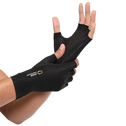 Copper Compression Arthritis Gloves for Carpal Tunnel, Computer, Typing, Support