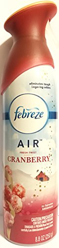 Febreze 1 Air Freshener Spray-Limited Edition-Winter Collection 2017-Fresh-Twist Cranberry-Net Wt. 8.8 OZ (250 g) Per Bottle-One (1) Bot, 1, Red
