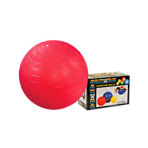 CanDo Inflatable Ball, Red, 30 Inch, Boxed ()