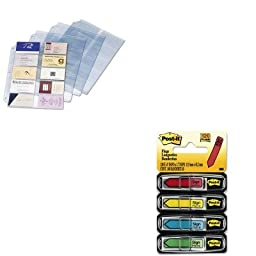 KITCRD7856000MMM684SH - Value Kit - Cardinal Business Card Refill Pages (CRD7856000) and Post-it Arrow Message 1/2amp;quot; Flags (MMM684SH)