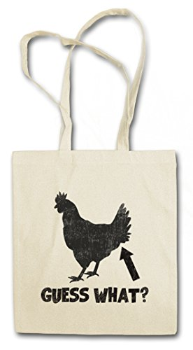 GUESS WHAT ? HIPSTER BAG – Chicken Butt Quote Fun Joke Comedy Nerd Hipster Indie Cocky