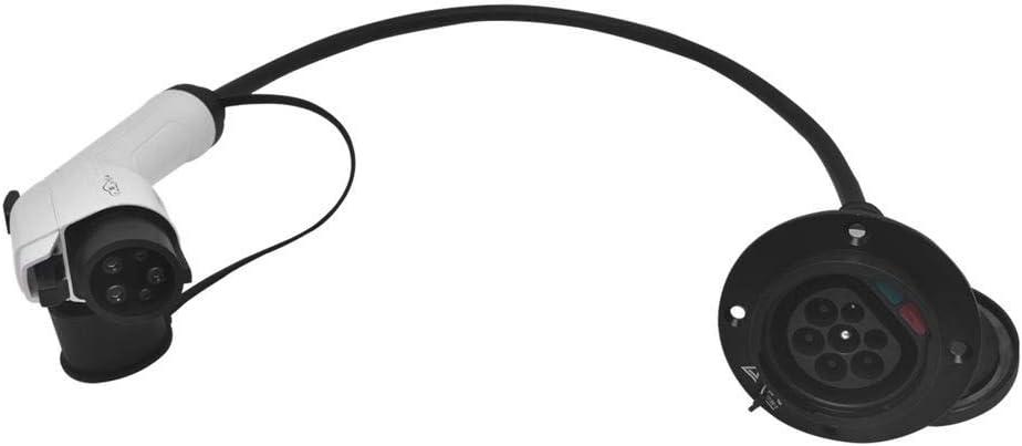 Kacsoo Multifunktions EV Adapter Typ 2 Steckdose und 32A J1772 Typ 1 Stecker Wandelt das Ladeger/ät Typ 2 in EIN tragbares EV Ladeger/ät Typ 1 f/ür das Autokabel f/ür Autos um