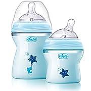 Chicco NaturalFit Colorific Bottle 2-Pack 0m+ Slow Flow, Blue