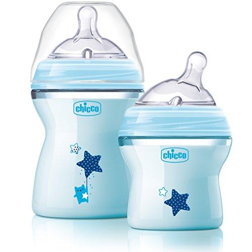 Chicco NaturalFit Colorific Bottle Slow Flow, Blue Chicco Bottle