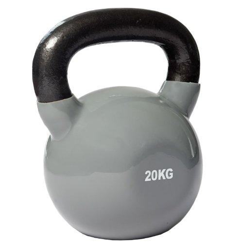 CARDIOfitness Kettlebell 20kg, Schwarz Grau, Kugelhantel, Kettle Bell