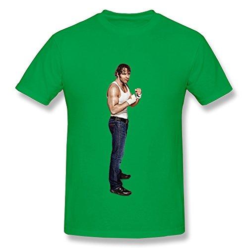 JUJ WWE Dean Ambrose Boy's 100% Cotton Tee Shirts ForestGreen Medium
