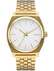 NEW Nixon Time Teller Watch Gold White