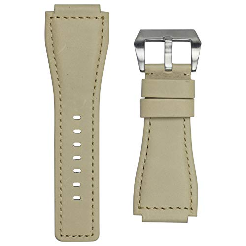 Infantry 24mm Genuine Leather Strap Military Army Watch Band Fold-Over Buckle