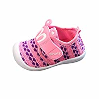 Witspace Toddler Kids Baby Cartoon Star Rabbit Ears Squeaky Shoes Sneakers (Pink, 6-12 Months)