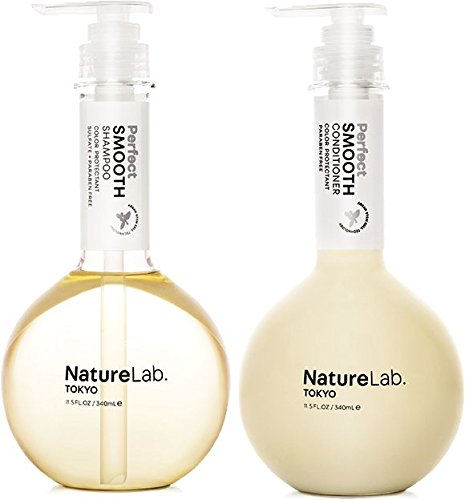 NatureLab. Tokyo – Perfect Smooth for frizz-free hair: Vegan, sulfate and cruelty free, protects color- 11.5 fl. oz. (Shampoo & Conditioner Duo)