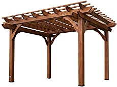 backyard discovery cedar pergola 12 by 10 - Free Pergola Designs For Patios