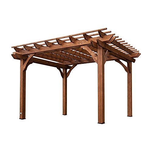 Arbor Swing Set - Backyard Discovery Cedar Pergola 12' by 10'