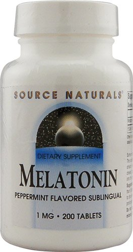 Sublingual Peppermint 200 Tablets (Source Naturals Melatonin Sublingual Peppermint -- 1 mg - 200 Tablets - 3PC)