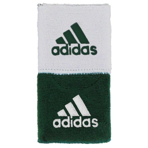 adidas Interval Reversible Wristband, Forest/White / White/Forest, One Size Fits All by adidas (Image #1)