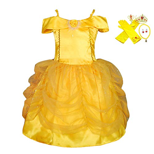 (Lito Angels Girls' Princess Belle Dress up Costume Halloween Party Fancy Dresses Accessories Size 18-24)