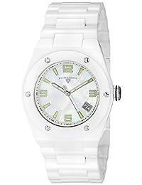 Swiss Legend Women's 10054-WWSA Throttle Analog Display Swiss Quartz White Watch