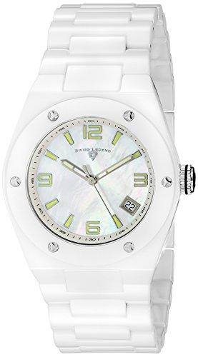 Swiss Legend Throttle (Swiss Legend Women's 10054-WWSA Throttle White Ceramic Watch with Link Bracelet)