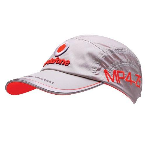 元2010 Vodafone McLaren Mercedesチームキャップ – ユニセックス Free Size シルバー B003BPIEQ8