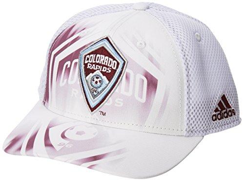 MLS Colorado Rapids Adult Men MLS SP17 Fan Wear White Out Structured Adjustable - Structured Spandex Cap Blend