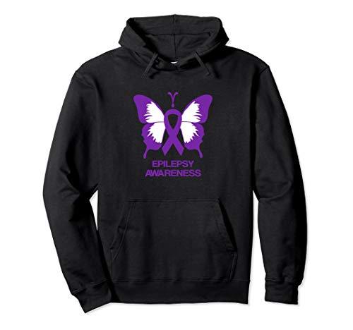 Epilepsy Awareness Butterfly Purple Ribbon Hoodie
