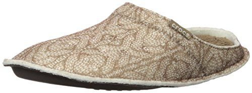 CROCS - CLASSIC CABLE KNIT SLIPPER - stucco walnut Stucco Walnut
